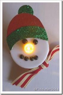 tealight snowman.