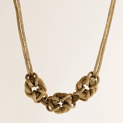 You can wear your rope with this gorgeous necklace.  (jcrew.com)