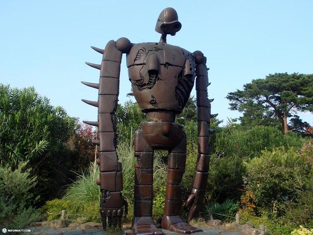coolest robot ever - so sad what happened to him in laputa in Mitaka, Tokyo, Japan
