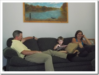 Three fourths of the White Family - Mike, Colton & Jennette