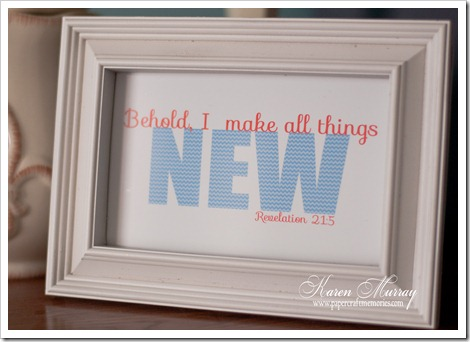 Revelation 21:5 framed