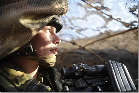 """""""The Life of Female Field Intelligence Combat Soldiers"""", November 2011. Female combat soldiers of the field intelligence company """"Nachshol"""" are stationed along the southern Israeli border. Due to the increased tension in the area, a unique exercise was conducted in the beginning of November, practicing clashes with terrorists, storming at targets, and high-level camouflage, while confronted with mock explosives simulating real bombs."""
