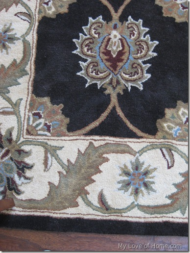 Patterned brown area rug