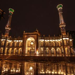 Jumma Masjid,Bangalore,Karnataka by Md Mukibul Islam - Buildings & Architecture Places of Worship ( building, masjid, mosque, architecture, nightscape, ramadan )