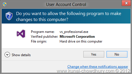 VS2012 Installation Experience - UAC