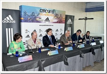 Circuito Nacional de Menores ADIDAS 2014 presentado por la FEP en La Ciudad de la Raqueta, Madrid.