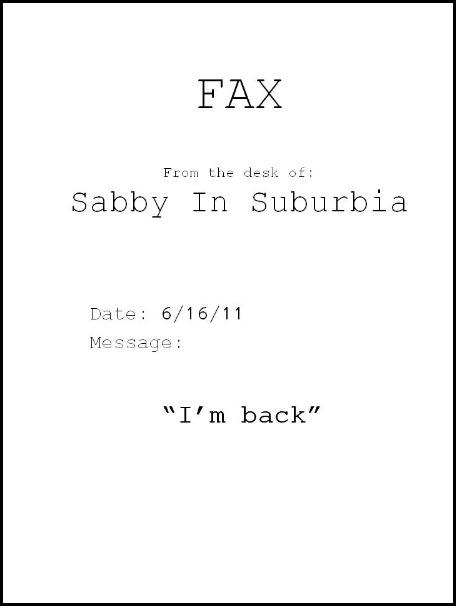 i'm back fax