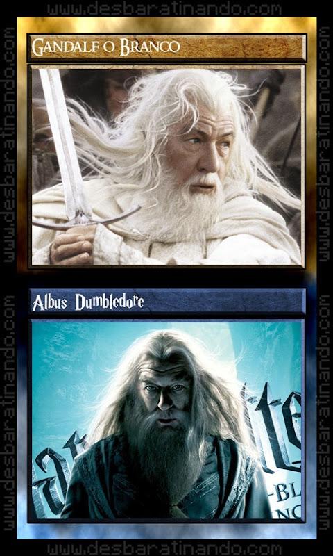 0 gandalf dumbledore senhor dos anéis Vs harry potter