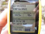 Trikora - GPS at Lake Habbema (Ricky Munday, Nov 28, 2010)