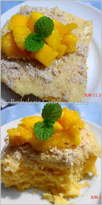 bolo de iogurte com gelatina de tangerina