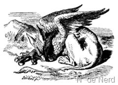 Um grifo, ilustração para uma edição de Alice no país das maravilhas, de Lewis Carroll.