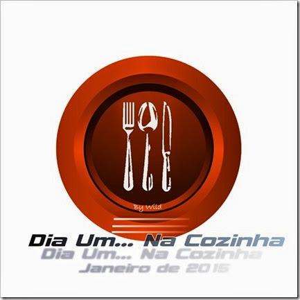 Logotipo Dia Um... Na Cozinha Janeiro de 2015