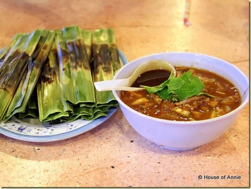 otak otak and assam laksa