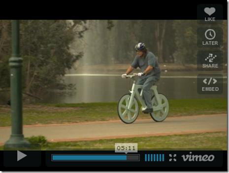 Bicicleta de carton