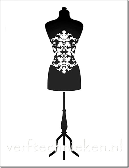 Shabby Chic sjabloon Mannequin 2