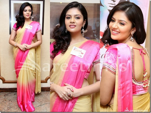 Sreemukhi_Dual_Color_Saree