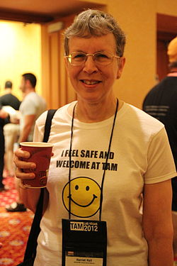 Harriet Hall with Safe shirt