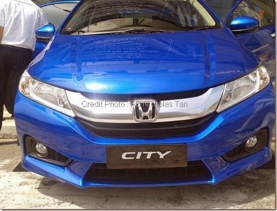 Pandangan Hadapan Honda city 2014