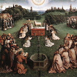 017 tríptico de San Bavón en Gante Adoración cordero.jpg