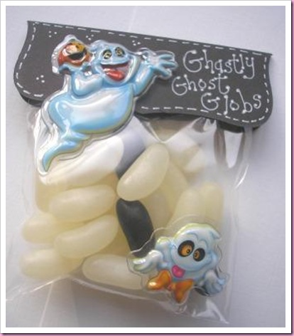 Halloween Treat Favour bags Ghastly Ghost Globs