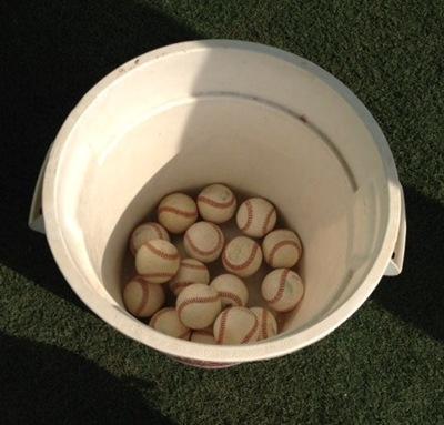 Bucket of Balls in the Bullpen