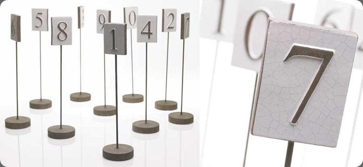 conatiner Table-numbers-F accent decor