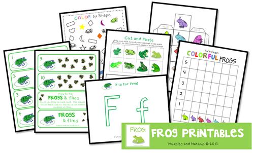 Free Frog Printable Pack