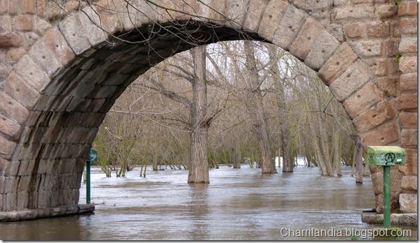 crecida puente romano
