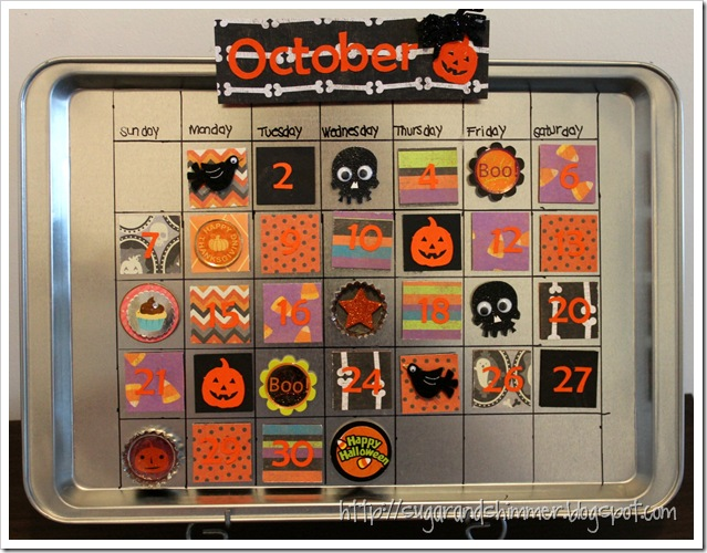Magnetic Calendar - October