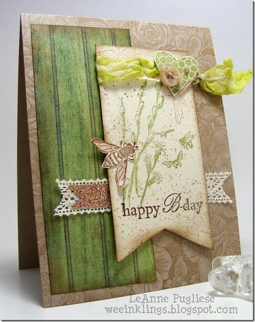 LeAnne Puglise WeeInklings Happy BDay Stampin Up