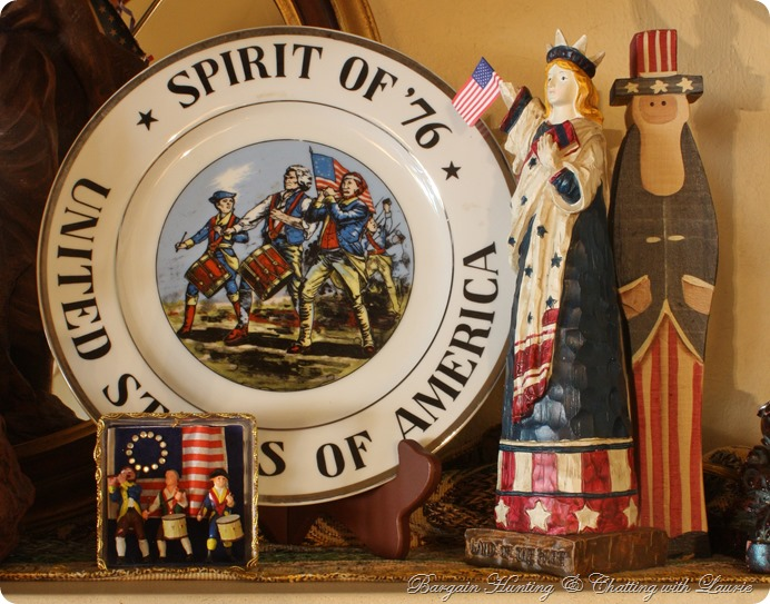 45h of July Mantel-Bargain Hunting with Laurie