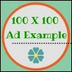 100x100 Ad Example