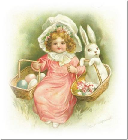free-vintage-easter-clip-art-little-girl-bonnet-baskets-eggs-bunny