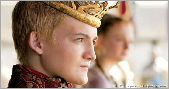 Angry bastard Joffrey. I'd behead people too if I looked like an androgynous in-bred albino. CLICK to visit the official GAME OF THRONES site.