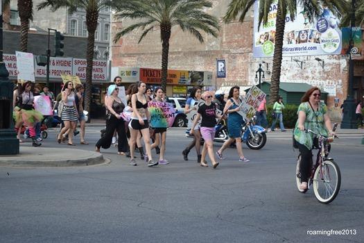 Protestors on the street