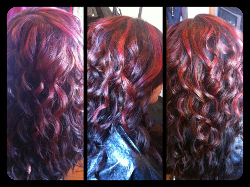 Healthy Hair Is Beautiful Hair..: Red highlights