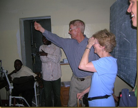 Jim and Sherri enjoyed some interaction in an English class for high school girls