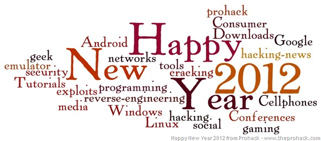 Happy New year 2012 from Prohack