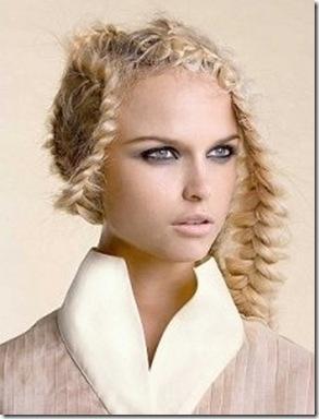peinado trenzado moderno imagen