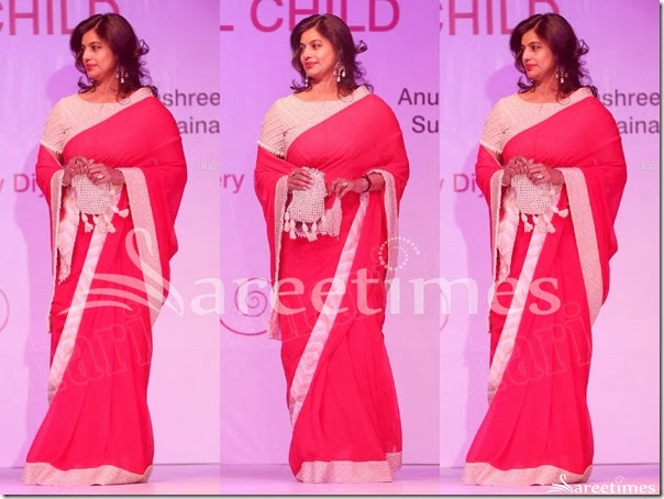 Pinky_Reddy_Red_Georgette_Saree