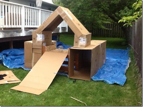 Como fazer um playground com caixas de papelão vazias (3)