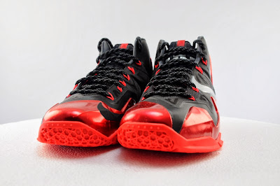 nike lebron 11 gr black red 5 03 Detailed Look at Nike LeBron XI Miami Heat Away
