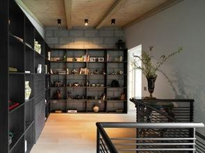 Decoracion interior muebles negros de madera