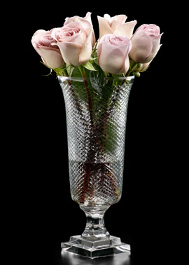 Cut Glass Mini Squares Pedestal Vase. (jamaligarden.com)