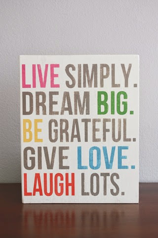 Live Simply, Dream Big wood sign