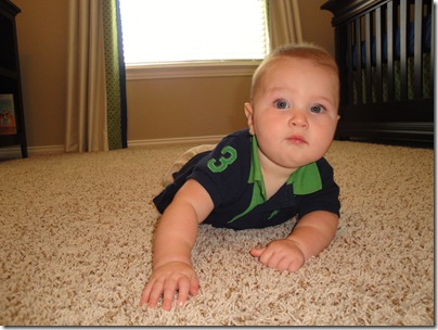 12.  Tummy time