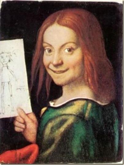 Giovanni Caroto, Petite fille tenant un dessin