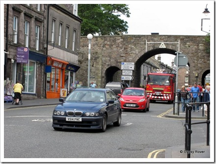 We entered Berwick upon Tweed through this archway called Scots Gate.