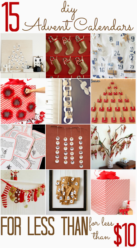 15 DIY Advent Calendars (that you can make for less than $10!)