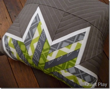 Striped Star cushion
